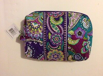 NWT Vera Bradley Travel LARGE Large Cosmetic Bag In Heather