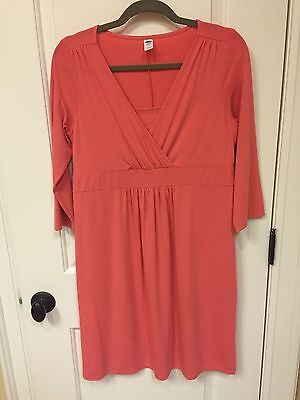 Old Navy Maternity Nursing Dress Size Small Coral Pink