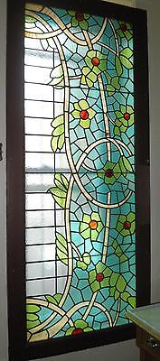 Large stained glass window early 1900's Art Nouveau