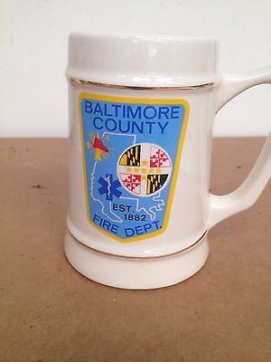Baltimore County Firefighters mug by Griffith Pottery
