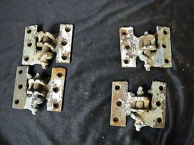 set 4 Antique Cast Iron Lift Off Shutter Hinges 2 Left & 2 Right