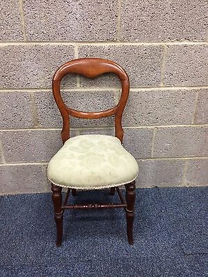 Antique Oak Upholstered Bedroom Chair