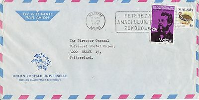 MALAWI Luftpostbrief Air Mail cover 1976  official UPU-cover