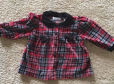 2f2332e78d97 Vintage Small Creations by Lord   Taylor Tarten Plaid Velour Dress 18 months