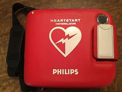Philips AED HeartStart FRx OnSite Defibrillator Case, Battery and Pads -