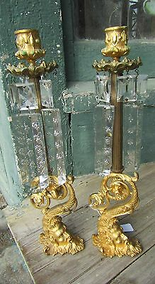 Pair Of Gilt Bronze Rococo Style Figural Candlesticks