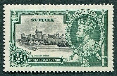 ST. LUCIA 1935 KGV 1/2d black and green SG109 mint MH FG Silver Jubilee b #W1