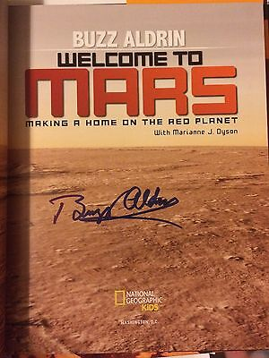 BUZZ ALDRIN Signed WELCOME TO MARS Book Autographed EXACT PROOF CoA