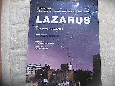 David Bowie - Lazarus London Stage Show Poster