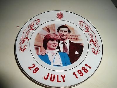 Vintage Collectable Plate Of Charles And Diana The Royal Wedding 1981
