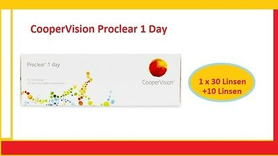 Proclear 1 Day 1x30 +10 CooperVision 40 Tages Kontaklinsen TOP Preis !