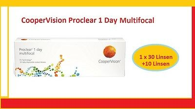 Proclear 1 Day Multifocal 1x30 +10 CooperVision Tages Kontaklinsen TOP Preis !