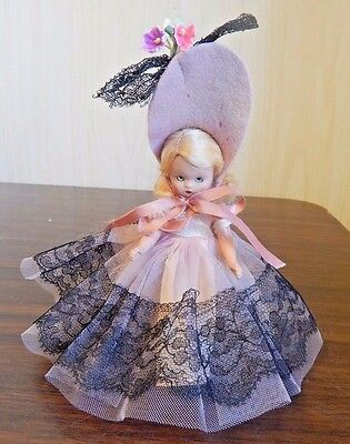 """Vintage Nancy Ann Storybook 5.5"""" Jointed Plastic Doll, Wednesday's Child #157"""