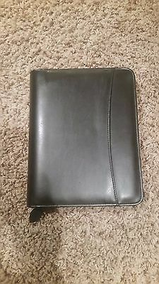 Franklin Faux Leather Planner/Organizer,black Zippered 7 Rings