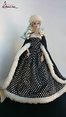 Vestido&capa/dress&cloak for OOAK Barbie,Poppy Parker,Fashion Royalty, not doll