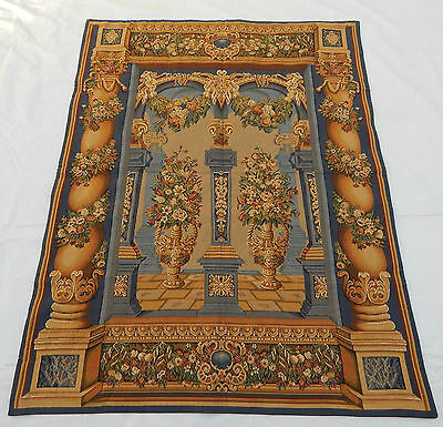 Vintage French Beautiful Tapestry 105x138cm T420