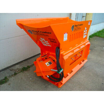 Skid Steer Concrete Crusher Attachment - Hog Crusher for Bobcat, Kubota, + more!