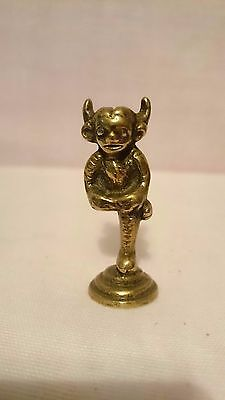 Vintage Brass Lincoln Imp Figurine Ornament