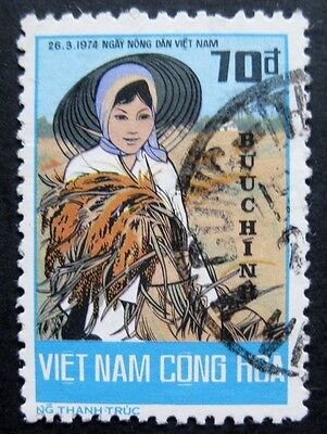 Vietnam (South) 1974: Rare Stamp from Farmers' Day Issue