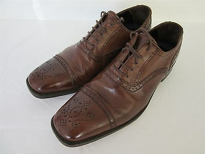 John White 'Ambassador' man's leather brogue shoes in brown - UK size 8