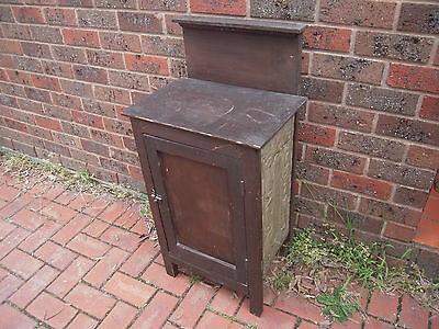 Antique / Vintage cabinet - pressed metal - two shelves