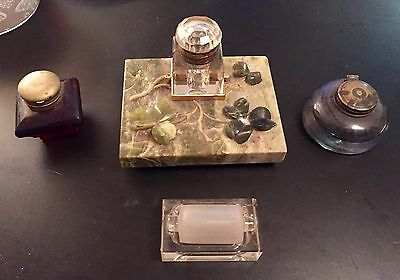Vintage Collectible Joblot of Inkwells And Others