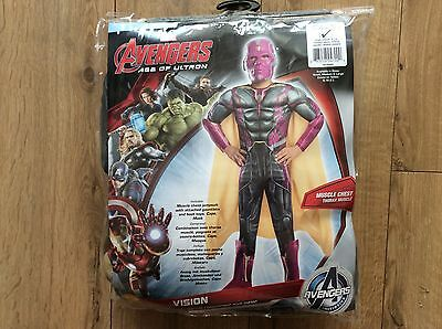 Marvel Avengers Age Of Ultron Vision Boys Fancy Dress Large 8 - 10 Years Bnwt