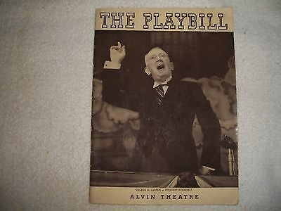 George M. Cohan, Playbill Check Photos Are Interesting