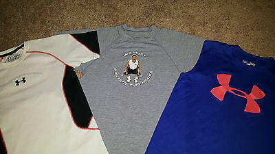 Under Armour Lot - 2 S/s Shirts 1 Tank Top Size Youth Small