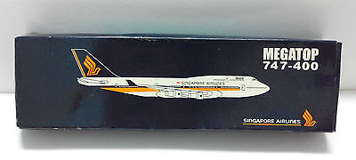 Rare Singapore Airlines SIA MEGATOP 747-400 Model In Box (A316)