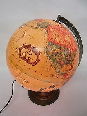 1993 Scan-Globe World Discoverer illuminated Globe, major voyages of discovery