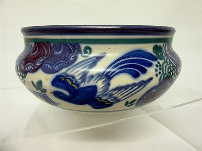 Vintage Carter Stabler Adams (Poole Pottery ) Bluebird bowl, shape 227 pattern P