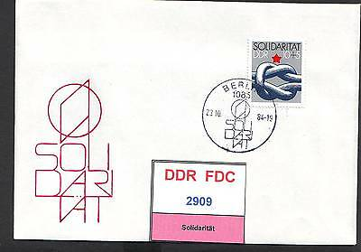 DDR, FDC 2909-2913 gestempelt, s.scan