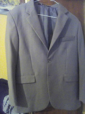 Boys Warm Grey Suit with Feint Pin Stripes