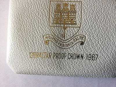 2 x uncirculated 50% Silver Gibraltar proof crowns 1967