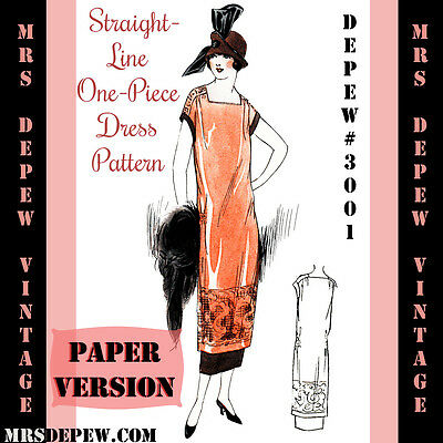 Vintage Sewing Pattern 1920's Flapper One Hour Dress Reproduction Booklet 3001