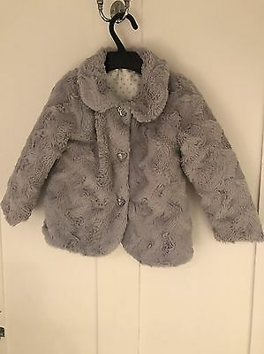 Faux Fur Coat Age 2-3 Years
