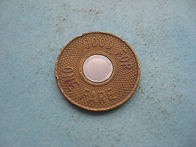 USA American New York City Transit Authority Good for One Fare travel token