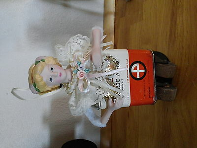 """Vintage Industrial Antique Steampunk Doll Art Statue Assemblage """"Acid Mary """""""
