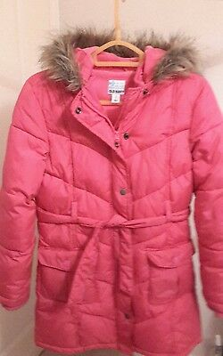 Old Navy girls pink padded winter coat - age 10/12