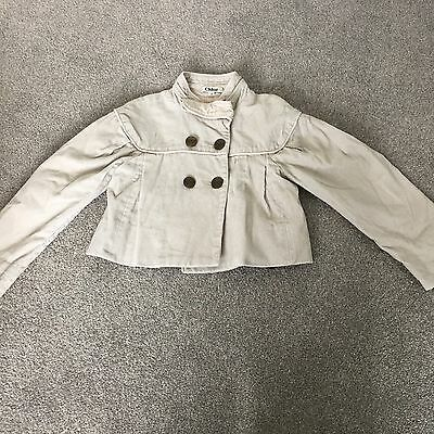CHLOE corduroy Jacket Coat Beige Age 4 Girls