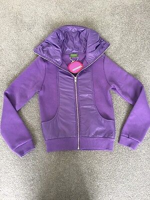 BNWT HOODIES Girls Lilac Zip Up Top To Fit Age 7-8-10 'Glam Aspen'