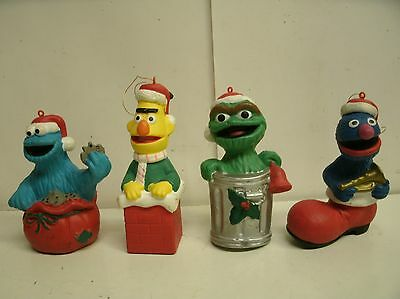 LOT of 4 SESAME STREET ORNAMENTS Jim Henson INC