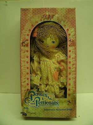"""1984 Posies and Petticoats Ragdoll Doll by JRL Toys 15"""""""