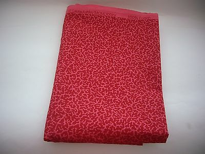Vintage Fabric Remnant -Laura Ashley 1985 - furnishing/crafts-  - Red/Pink