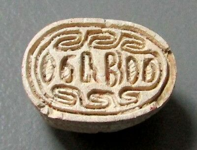 664–525 BC EGYPTIAN 26th DYNASTY STEATITE SCARAB BEETLE AMULET SEAL