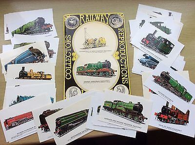 Collectors Railway Reproductions Locomotives 1978 - Complete Set of Postcards