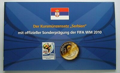 Serbia coin set 2009 plus Official FIFA World Cup 2010 Medal