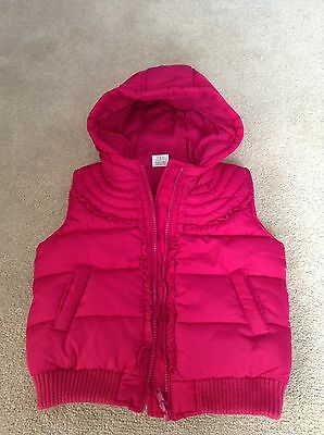 Lovely Dark Pink Gillet Body Warmer By Mini Club At Boots Age 3/4 Years