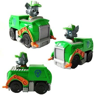 Rocky Paw Patrol Action Figures Doll Racer Car Kids Children Baby Boy Girl Toy